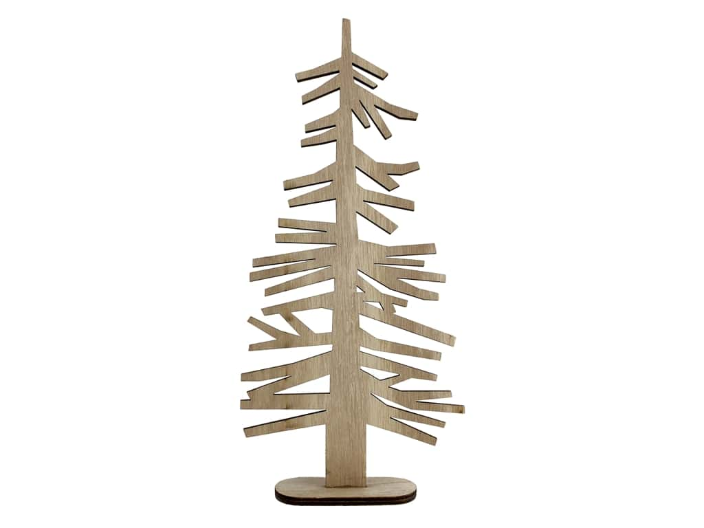 """Sierra Pacific Crafts Wood Branch Tree On Stand 10.75"""" Brown"""
