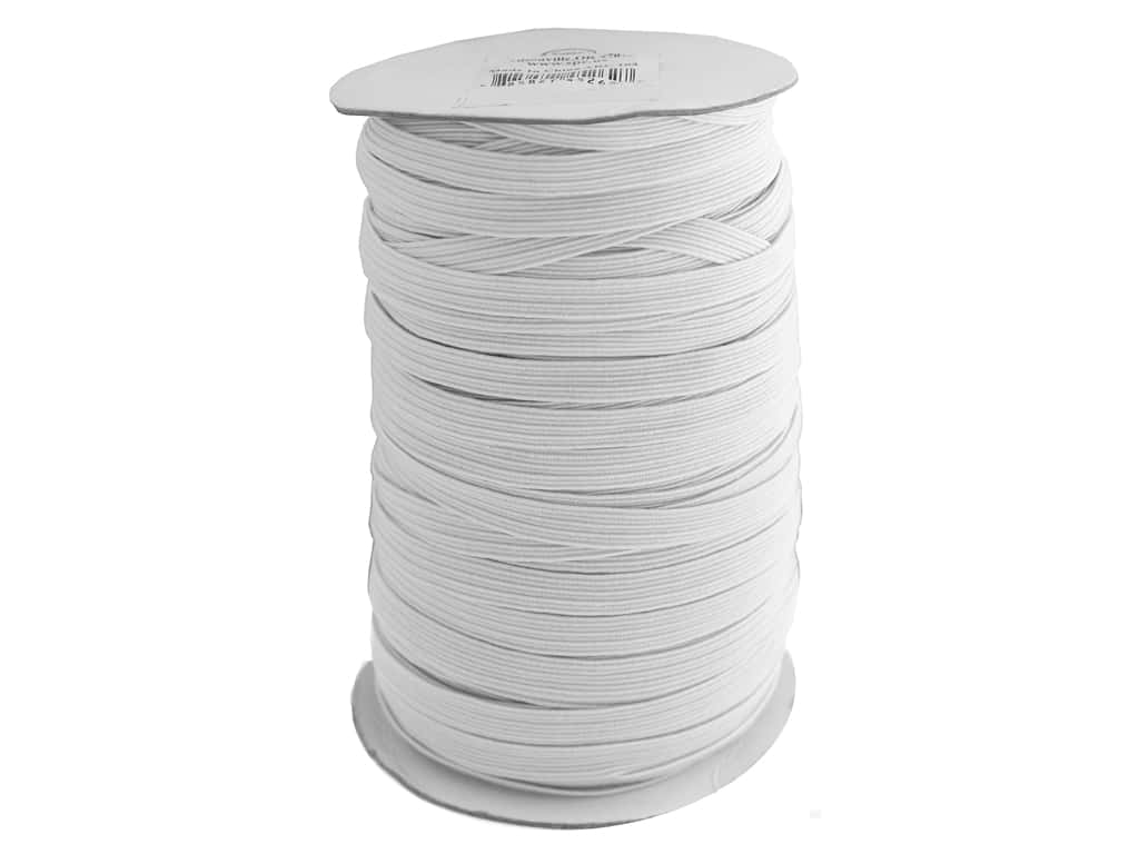 Sierra Pacific Crafts Flat Braid 8mm White 100yd
