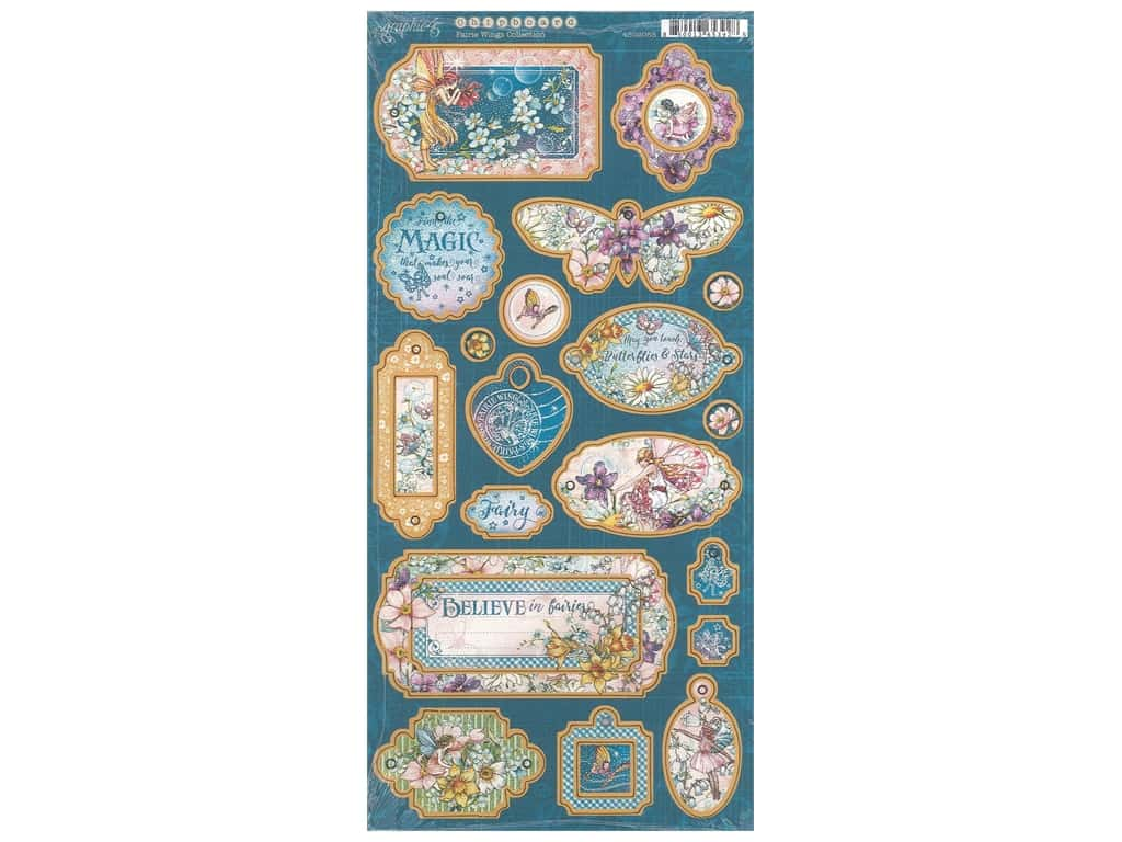 Graphic 45 Collection Fairie Wings Chipboard
