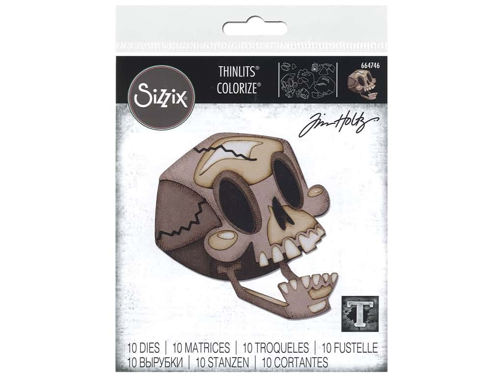 Sizzix Dies Tim Holtz Thinlits Skelly Colorize