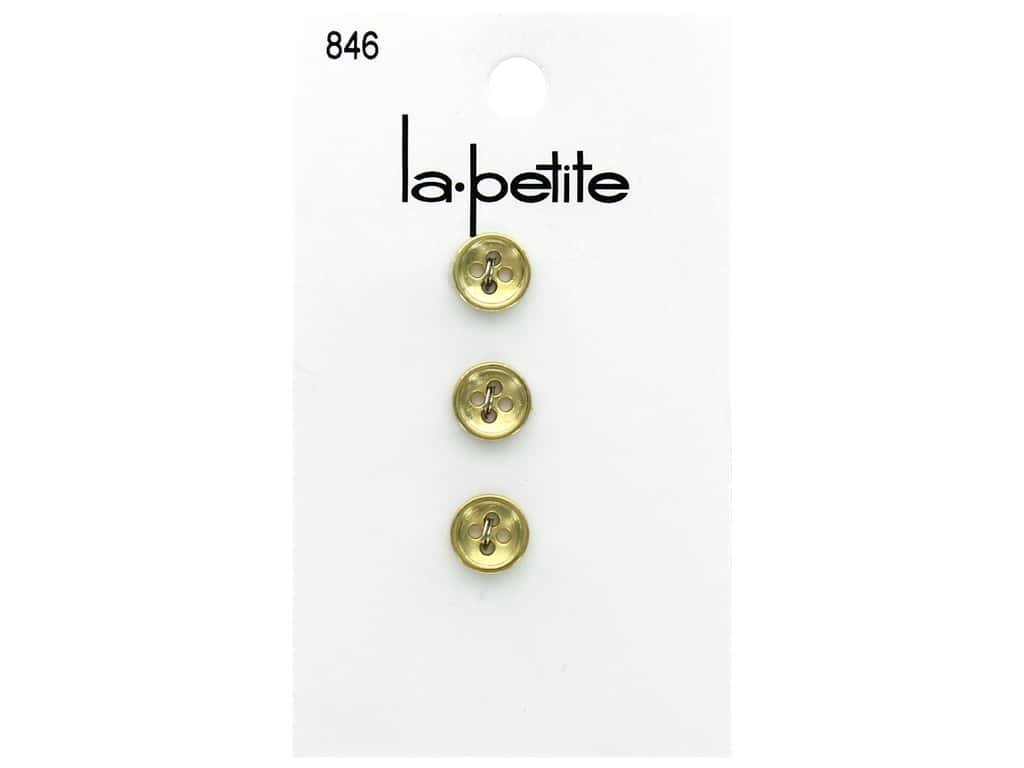 LaPetite 4 Hole Buttons 3/8 in. Gold #846 3pc.