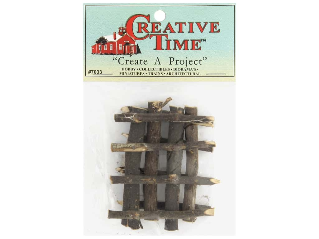 "Creative Time Wood Fence Section 3""x 2"" 2pc (72 sets)"