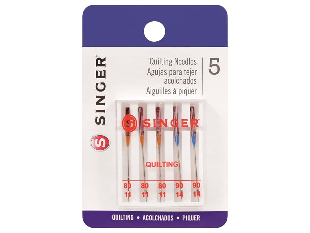 Singer Machine Needle Quilting Size 80/90 5pc