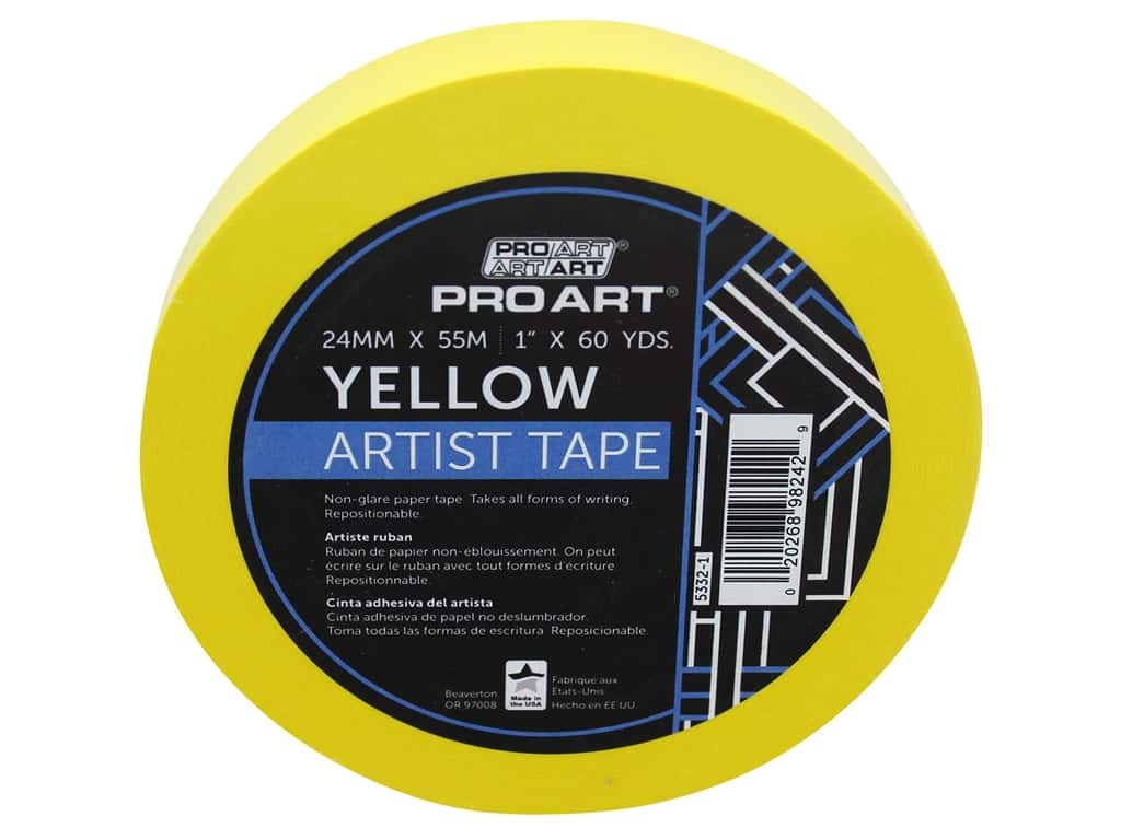 Pro Art Tape Artist 1 in. x 60 yd Yellow