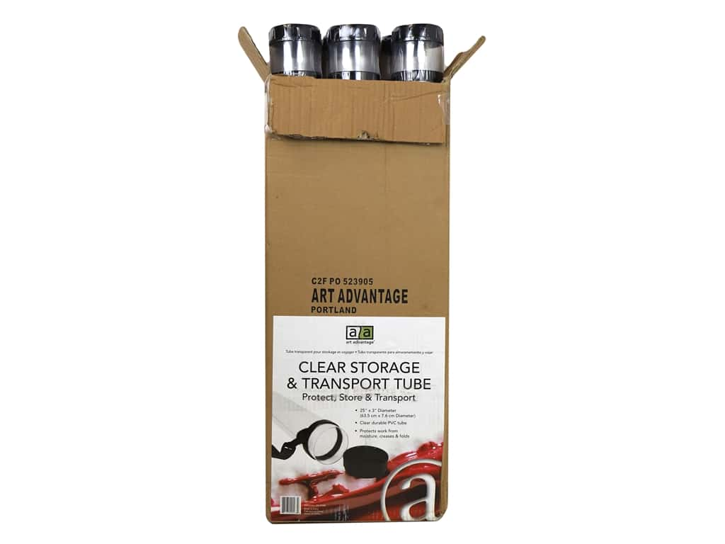 Art Advantage Storage & Transport Tube 25 in. Clear 6 pc. (6 pieces)