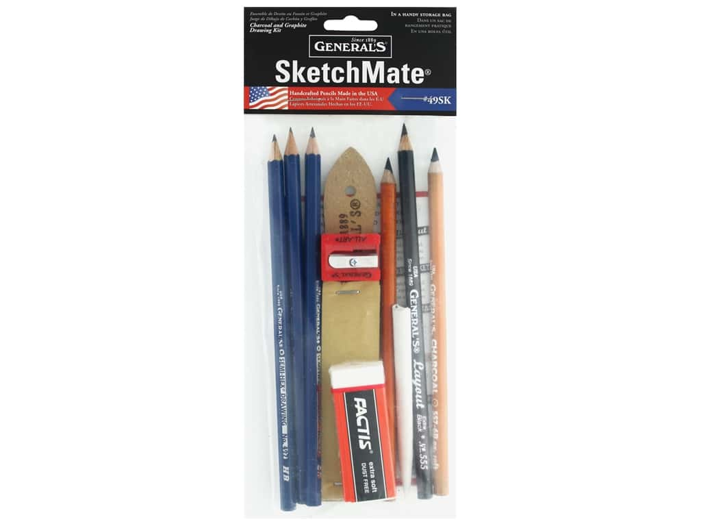 General's SketchMate Graphite & Charcoal Drawing Kit