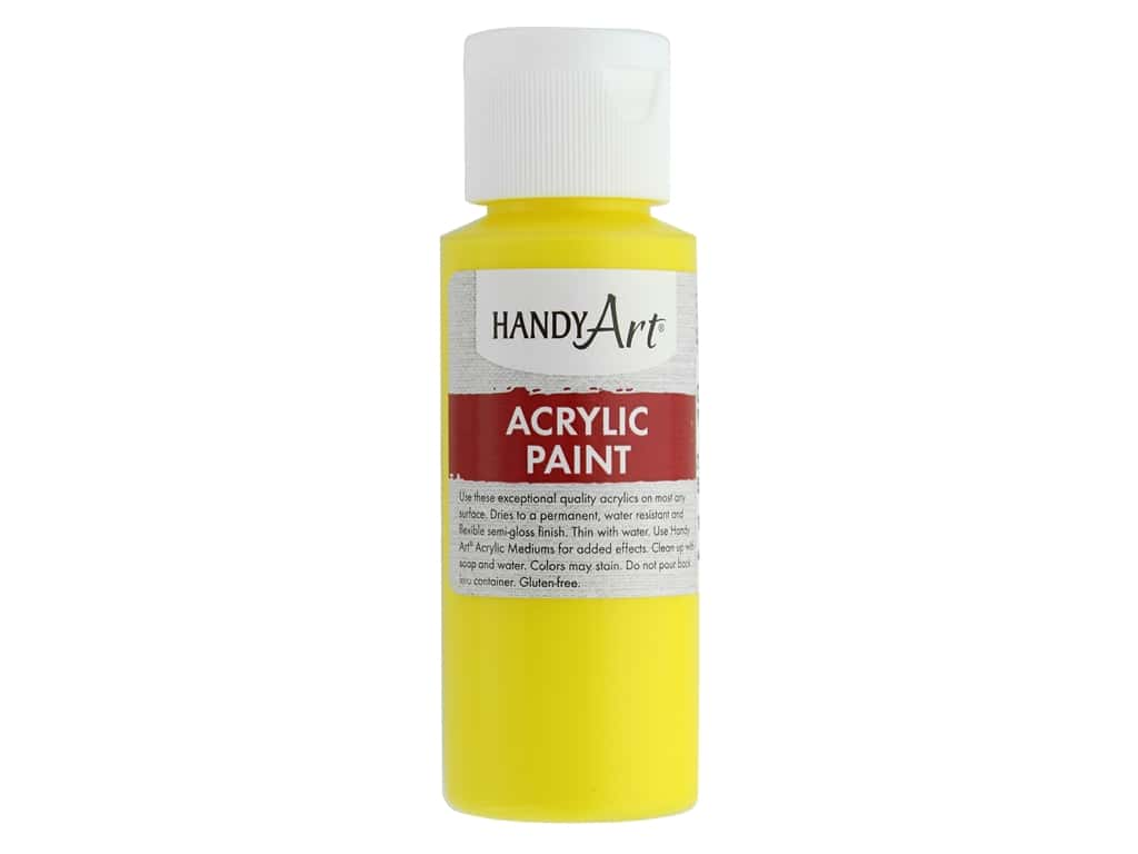 Handy Art Acrylic Paint 2oz Student Chrome Yellow
