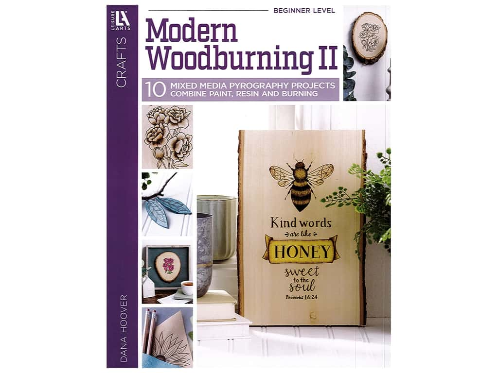 Leisure Arts Modern Woodburing ll Book
