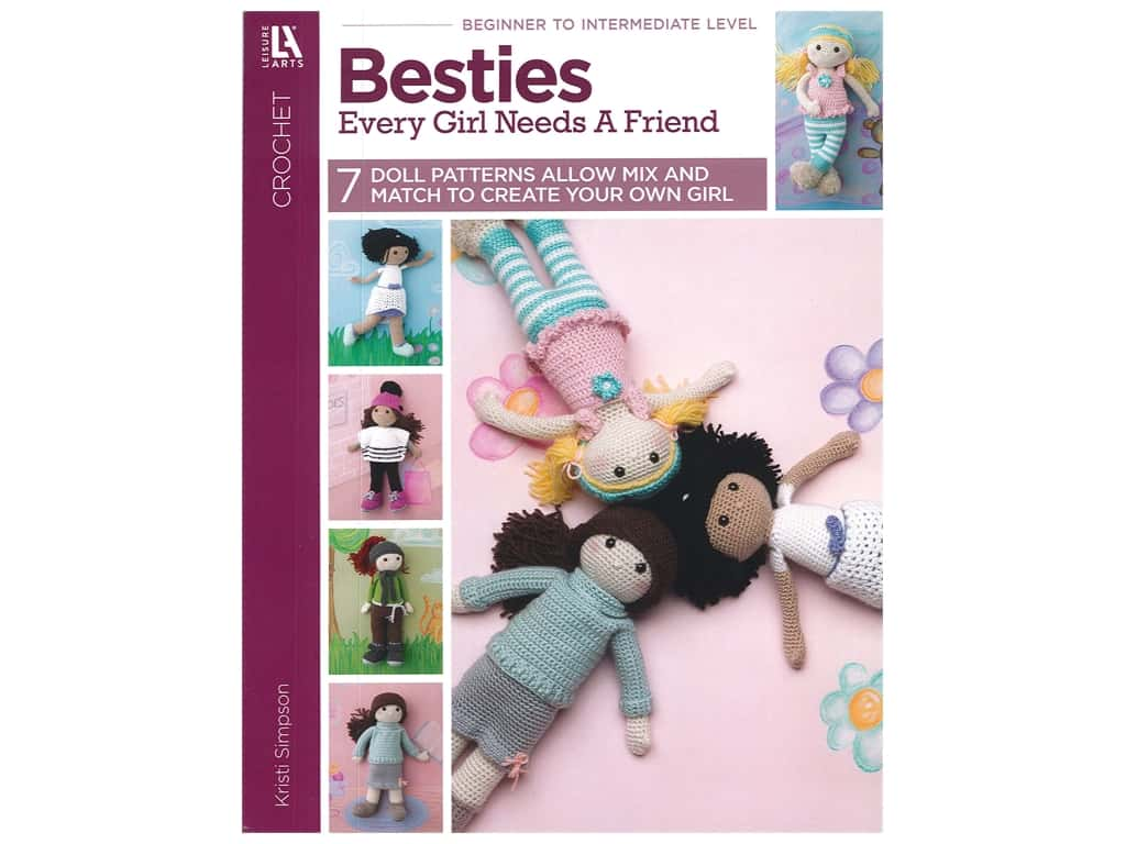 Besties Every Girl Needs A Friend Crochet Book