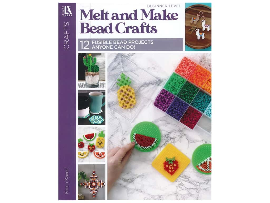 Leisure Arts Crafts Melt And Make Bead Crafts Book