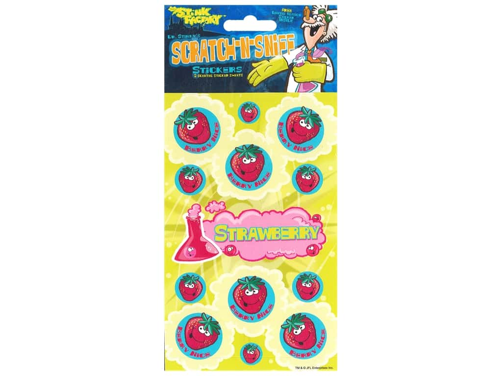 Just For Laughs Sticker Scratch N Sniff Strawberry