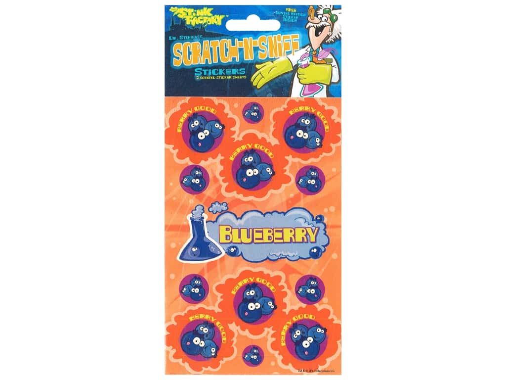 Just For Laughs Sticker Scratch N Sniff Blueberry