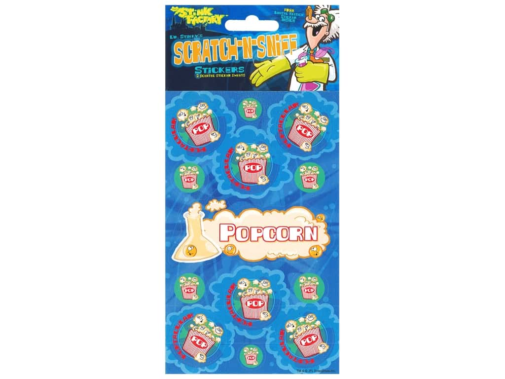 Just For Laughs Sticker Scratch N Sniff Popcorn