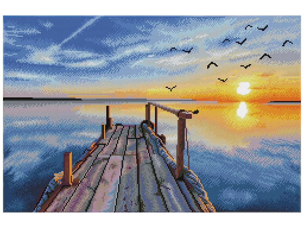 Diamond Dotz Facet Art Kit Advanced Sunset Jetty
