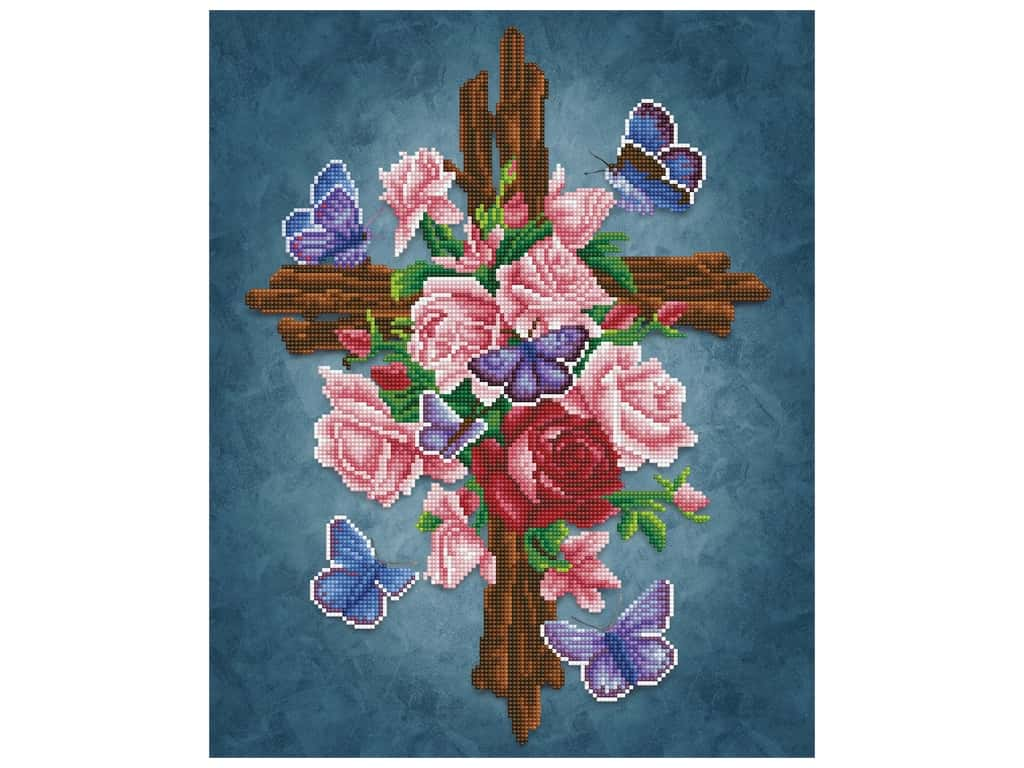Diamond Dotz Facet Art Kit Intermediate Flower Cross