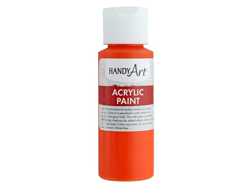 Handy Art Acrylic Paint 2 oz. Chrome Orange