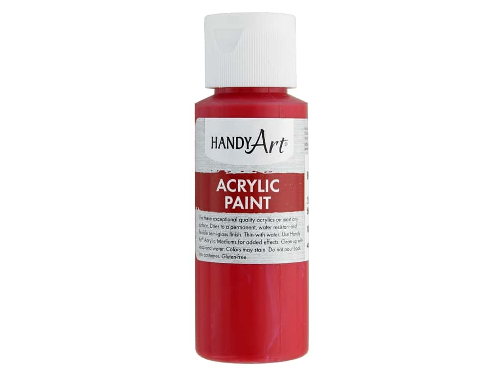 Handy Art Acrylic Paint 2oz Student Brite Red