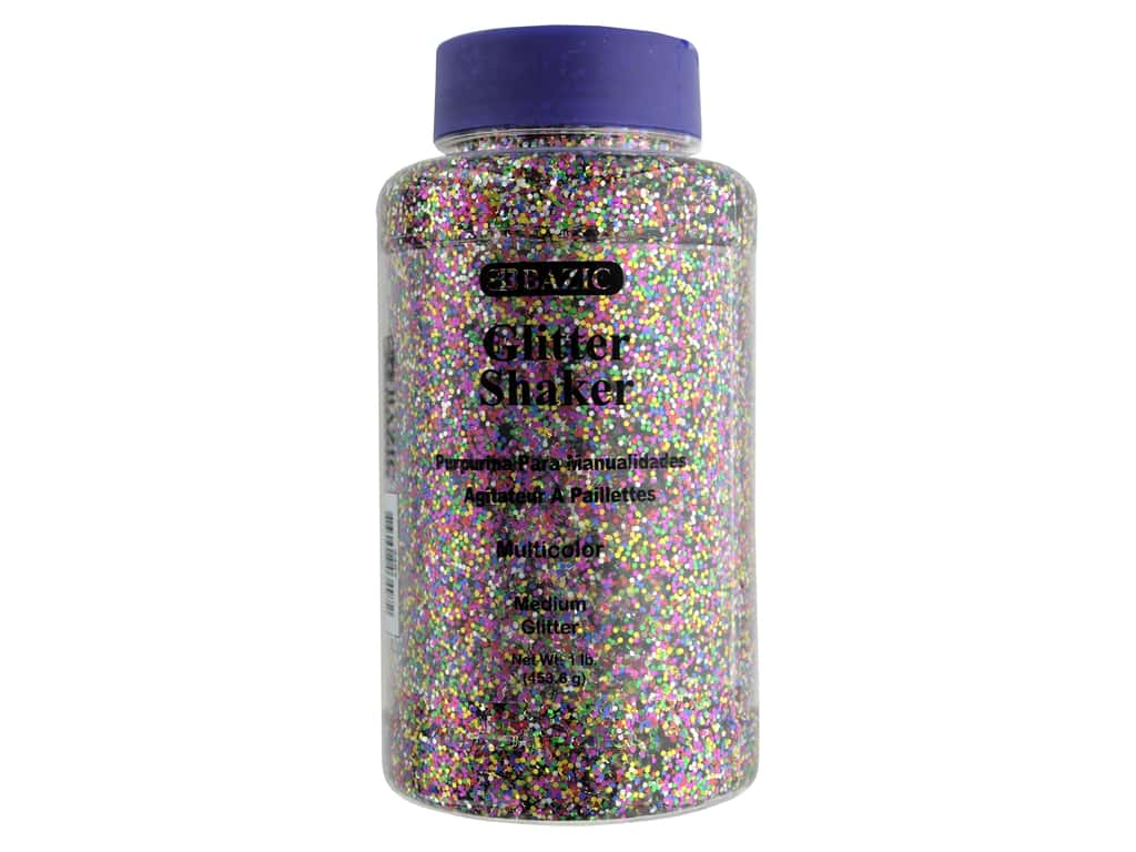 Bazic Glitter Shaker Medium Multi 1lb