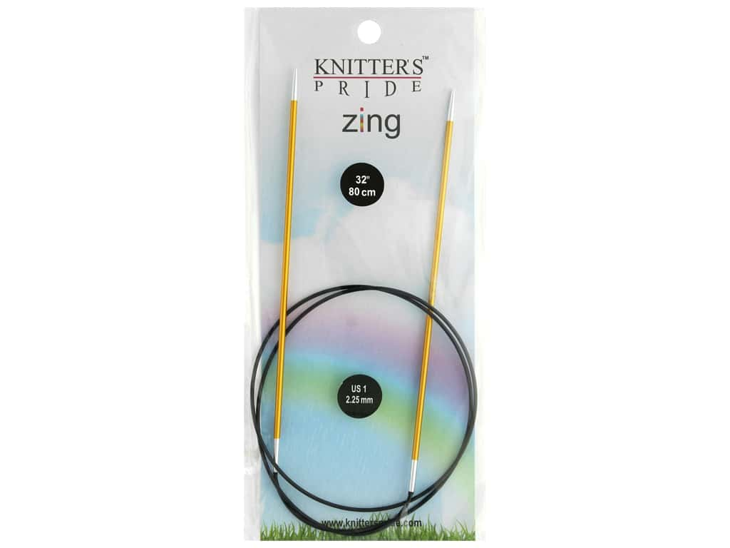 "Knitter's Pride Zing 32"" Fixed Circle Needle Size 1"