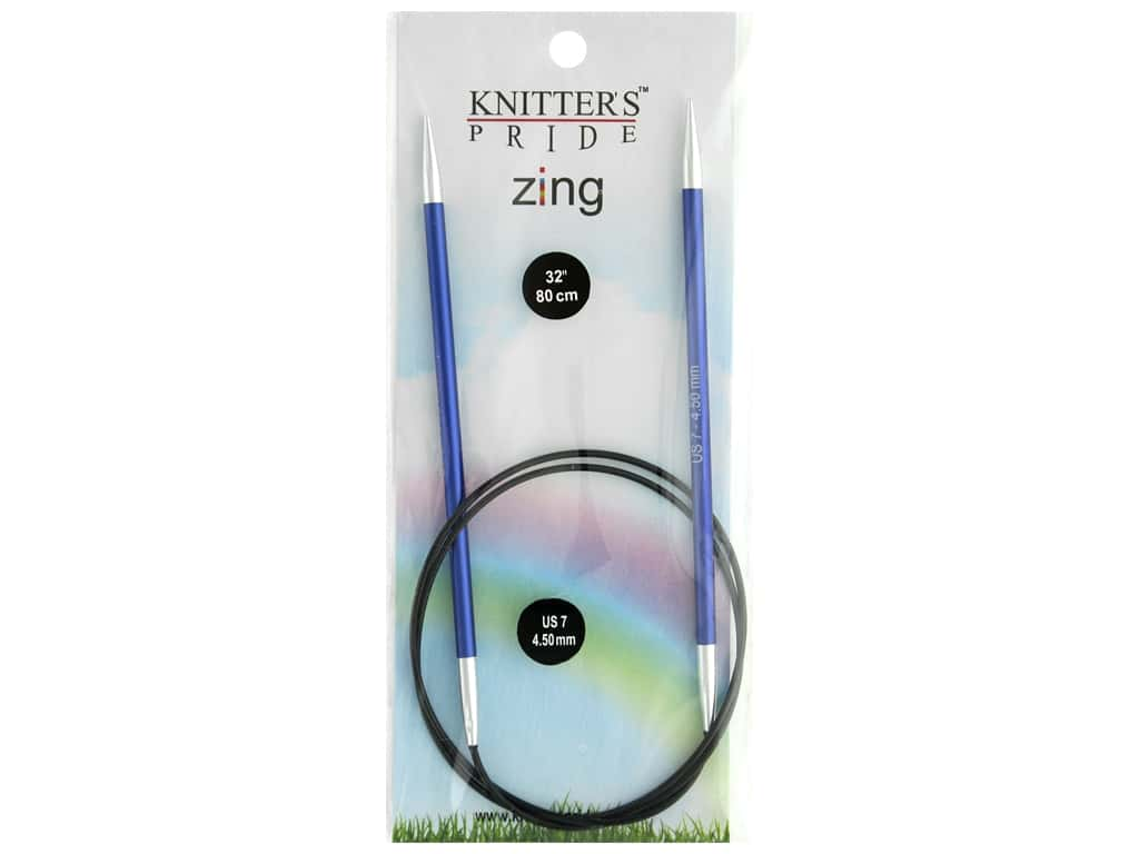 "Knitter's Pride Zing 32"" Fixed Circle Needle Size 7"