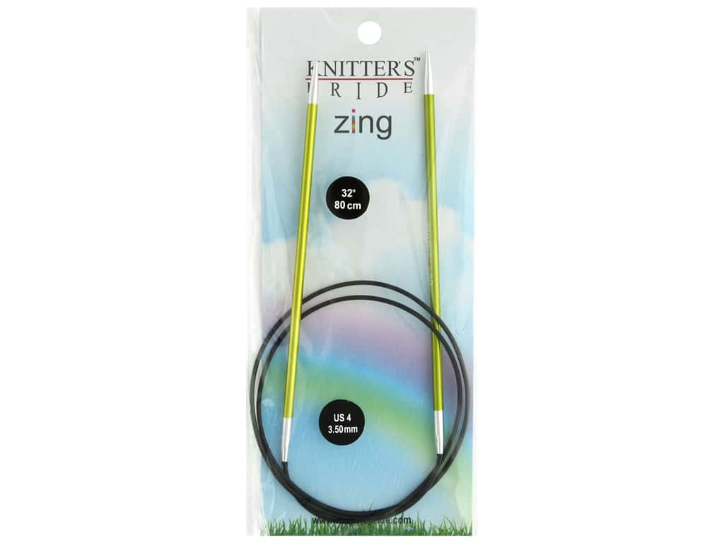 "Knitter's Pride Zing 32"" Fixed Circle Needle Size 4"