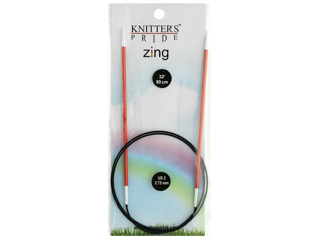 "Knitter's Pride Zing 32"" Fixed Circle Needle Size 2"