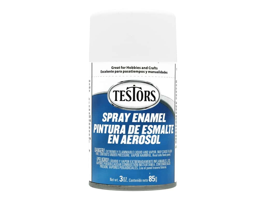 Testors Enamel Spray Paint 3oz Flat White