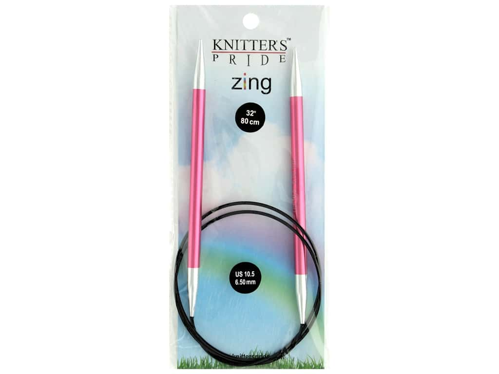 "Knitter's Pride Zing 32"" Fixed Circle Needle Size 10.5"