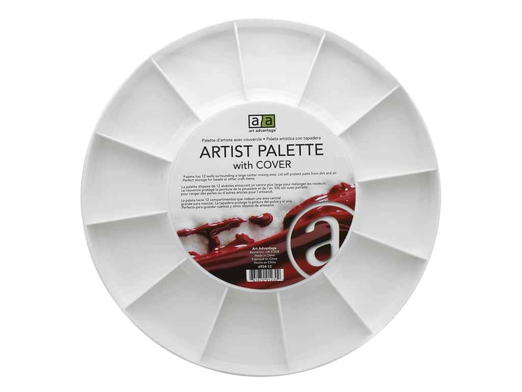 Art Advantage 12-Well Round Palette with Cover