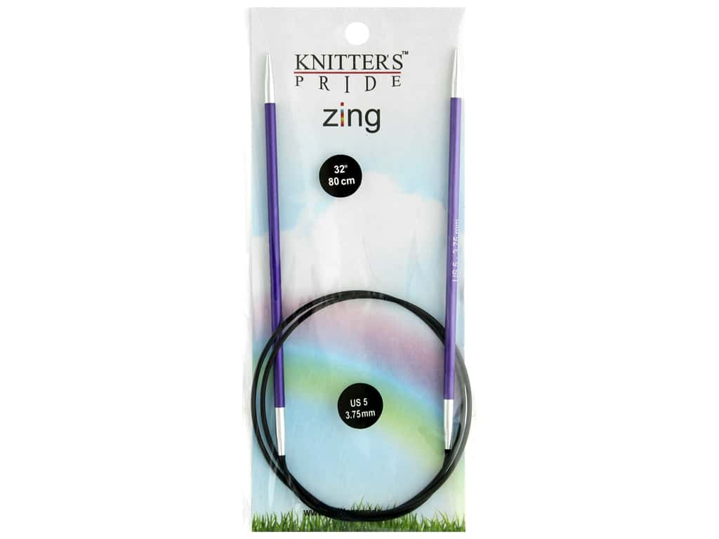 "Knitter's Pride Zing 32"" Fixed Circle Needle Size 5"