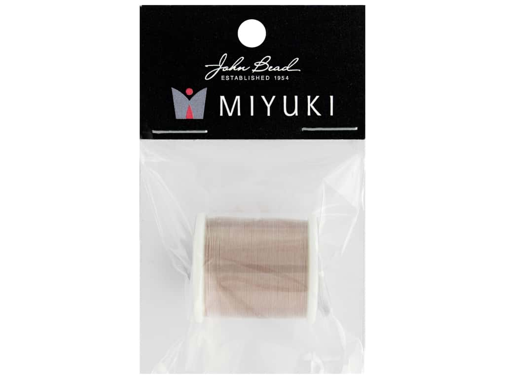 John Bead Findings Miyuki Beading Thread Nylon Blush