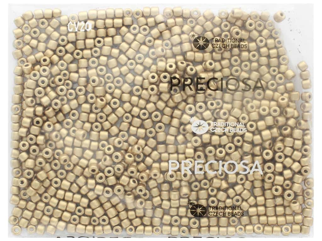 John Bead Czech Rola Bead 4.5mm Opaque Metallic Gold