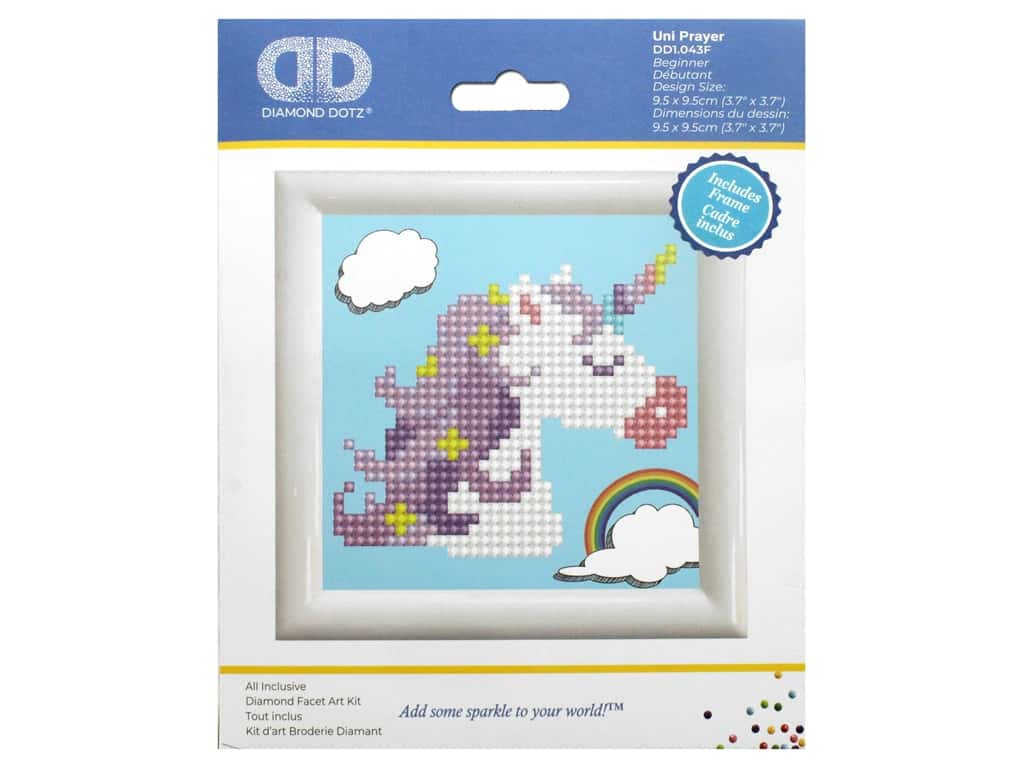 Diamond Dotz Facet Art Kit Beginner With Frame Unicorn Prayer