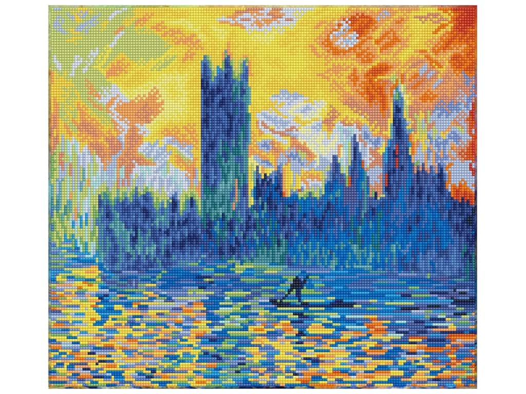 Diamond Dotz Intermediate Kit - London Parliament in Winter (apres Monet)