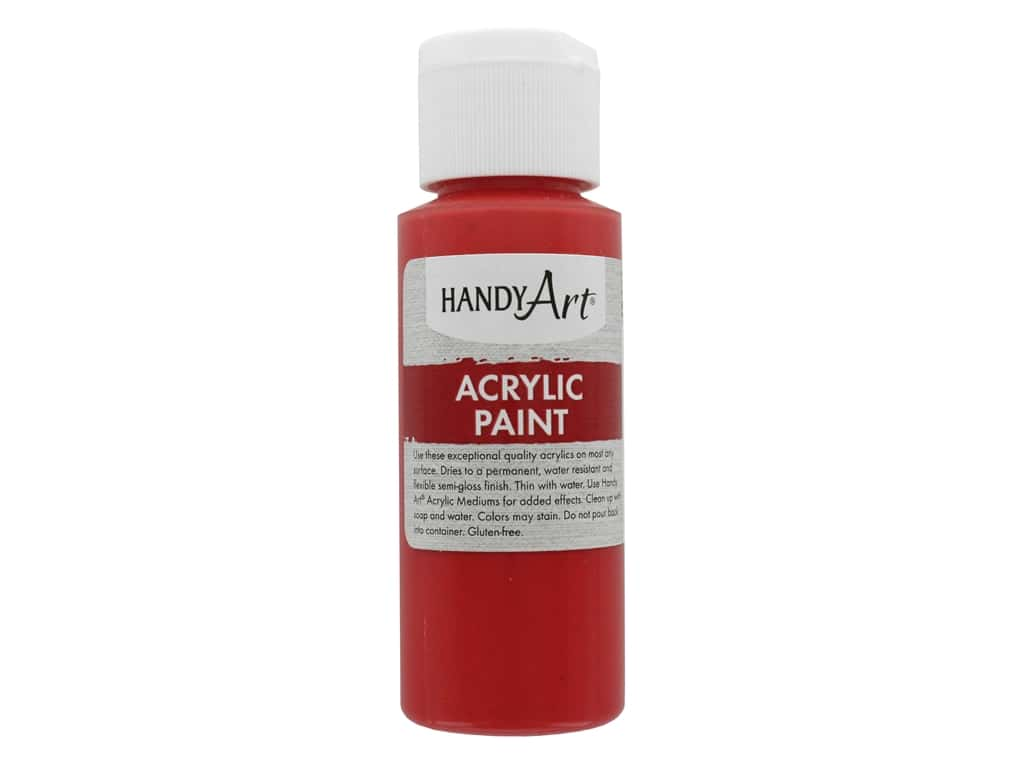 Handy Art Acrylic Paint 2 oz. Vermilion
