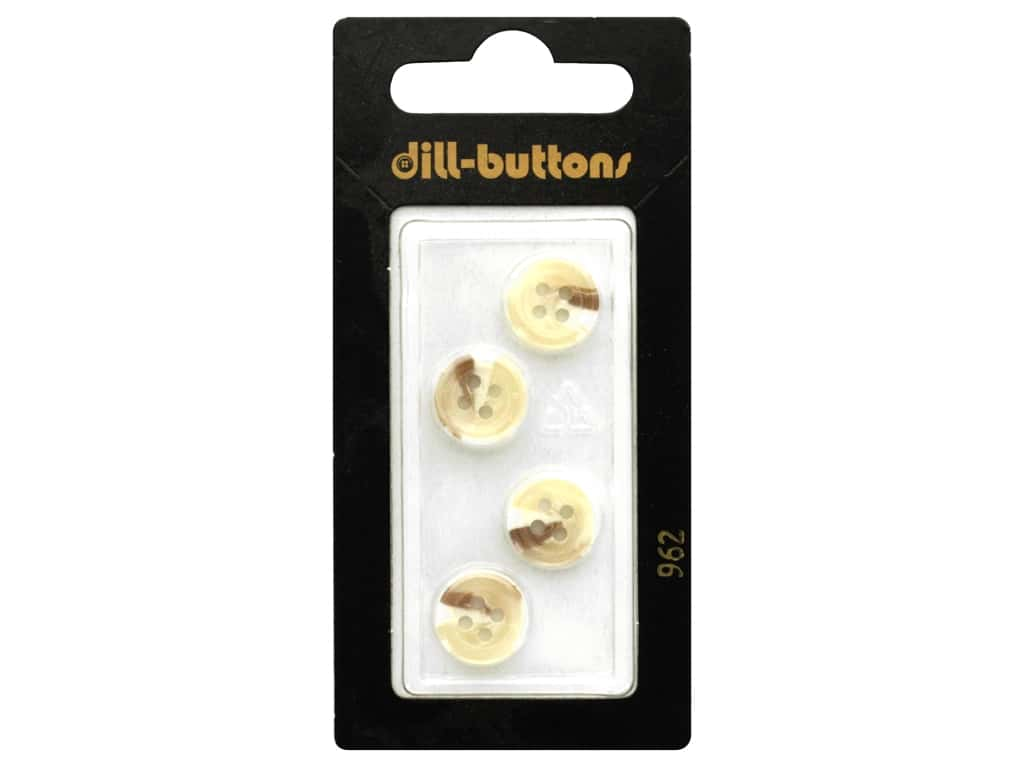 Dill 4 Hole Buttons 7/16 in. Beige #962 4 pc.
