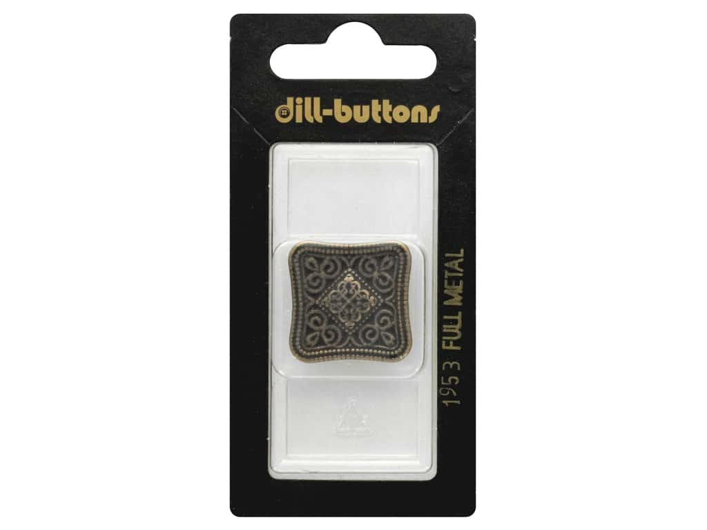 Dill Shank Buttons 1 1/8 in. Antique Brass Metal #1953 1 pc.