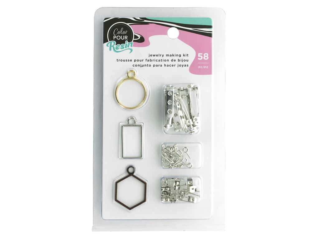 American Crafts Color Pour Resin Jewelry Making Kit