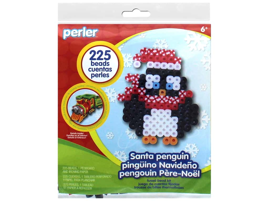 Perler Fused Bead Kit Trial Santa Penguin