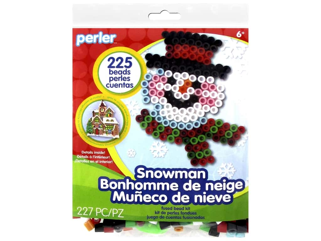 Perler Fused Bead Kit Trial Snowman
