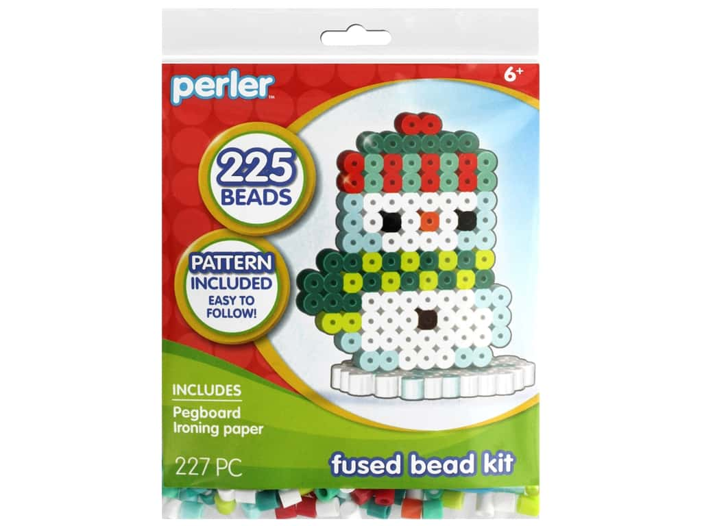 Perler Fused Bead Kit Trial 3D Snowman