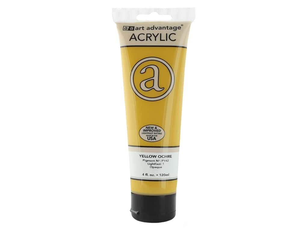 Art Advantage Acrylic Paint - Yellow Ochre 4 oz.