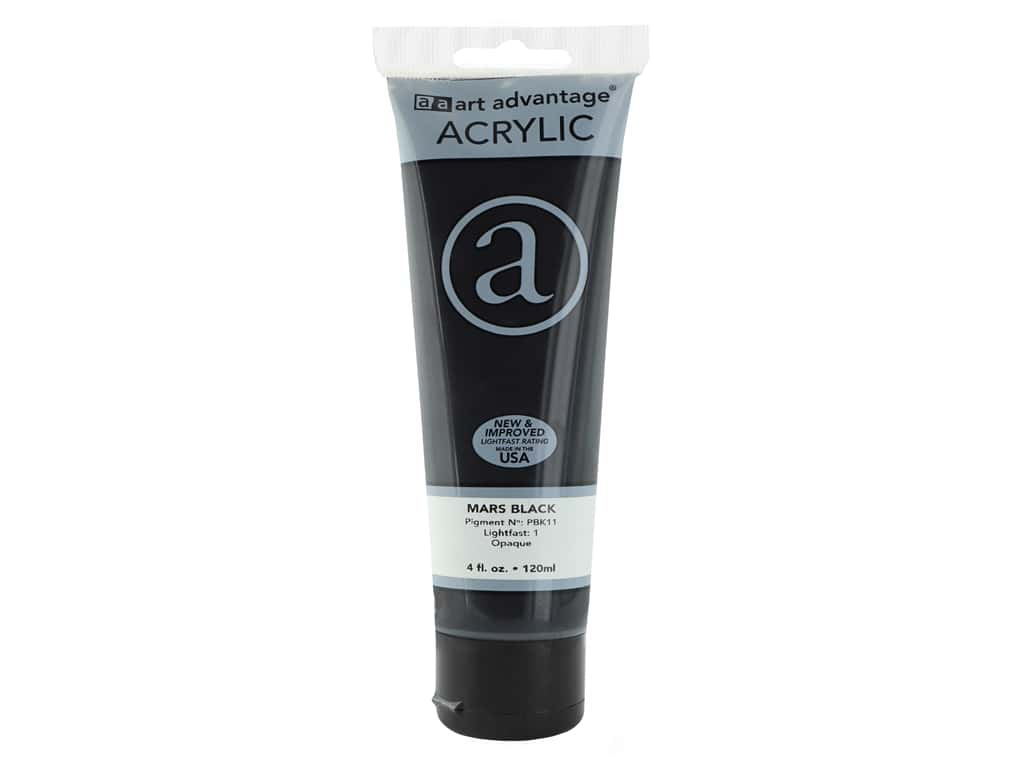 Art Advantage Acrylic Paint 4 oz. Mars Black