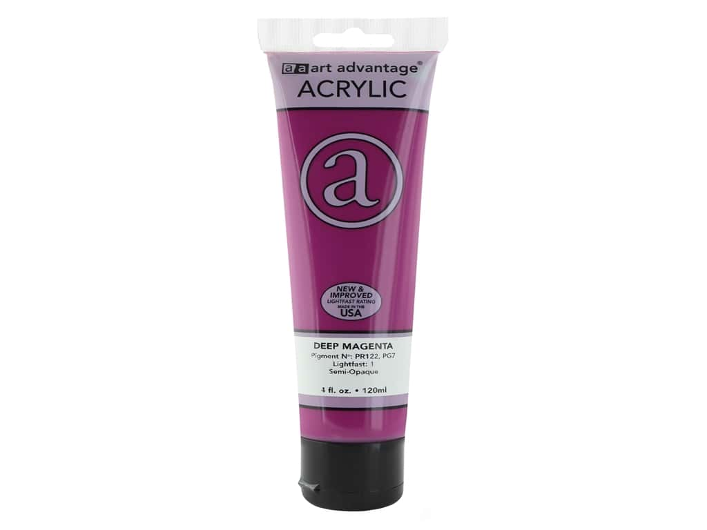 Art Advantage Acrylic Paint 4 oz. Deep Magenta