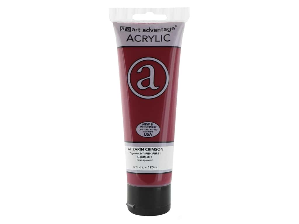 Art Advantage Acrylic Paint 4 oz. Alizarin Crimson