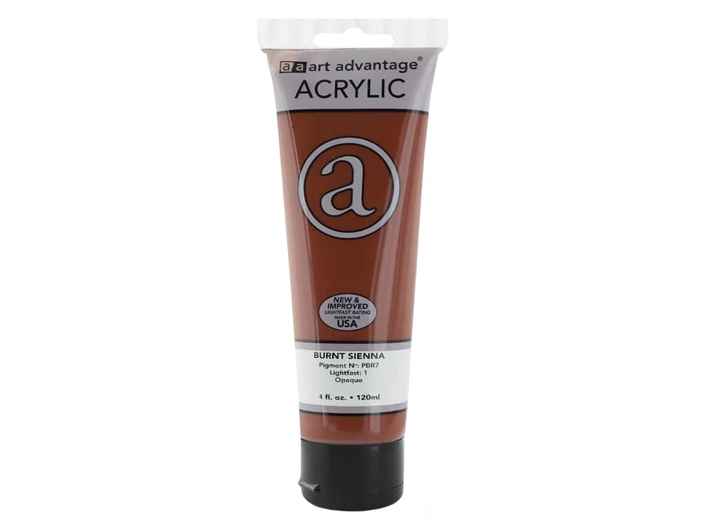 Art Advantage Acrylic Paint - Burnt Sienna 4 oz.