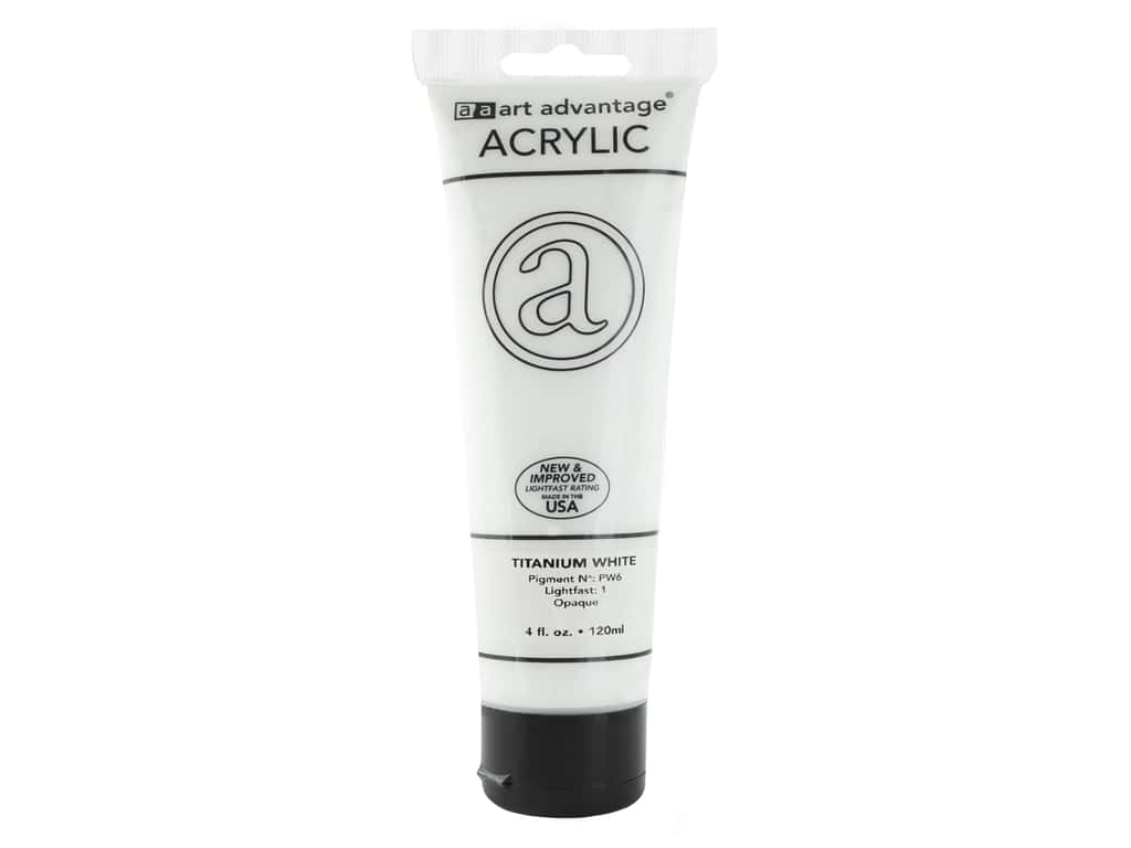 Art Advantage Acrylic Paint - Titanium White 4 oz.