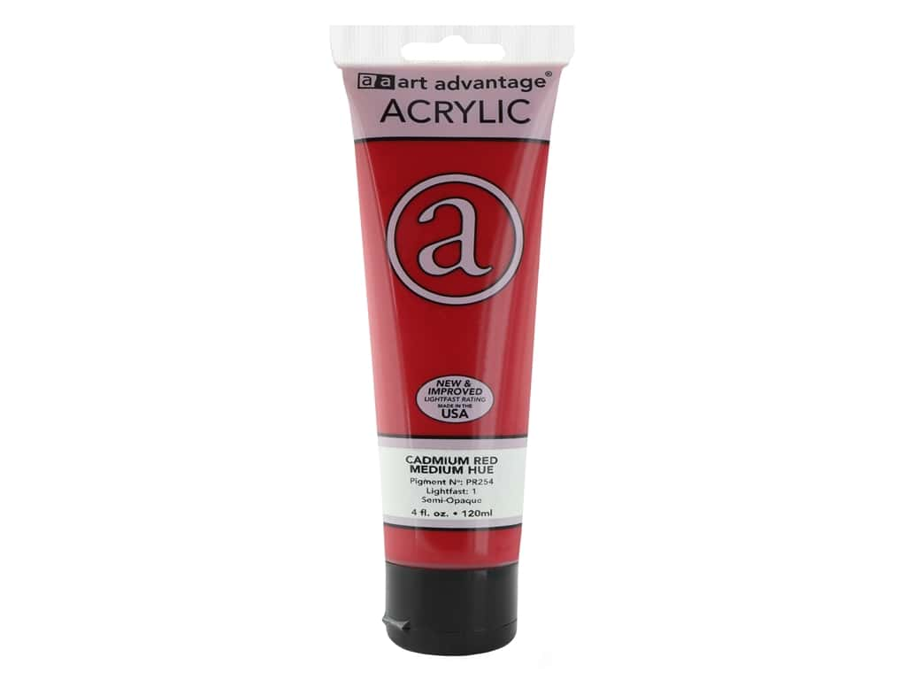 Art Advantage Acrylic Paint 4 oz. Cadmium Red Medium Hue