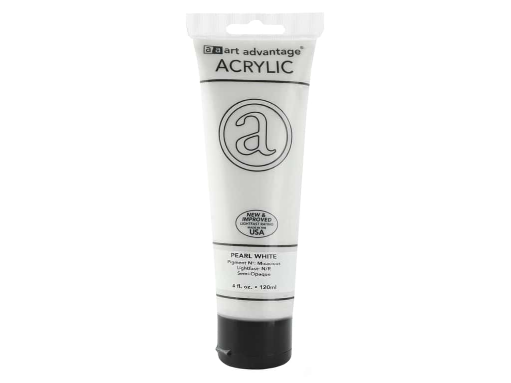 Art Advantage Acrylic Paint 4 oz. Pearl White