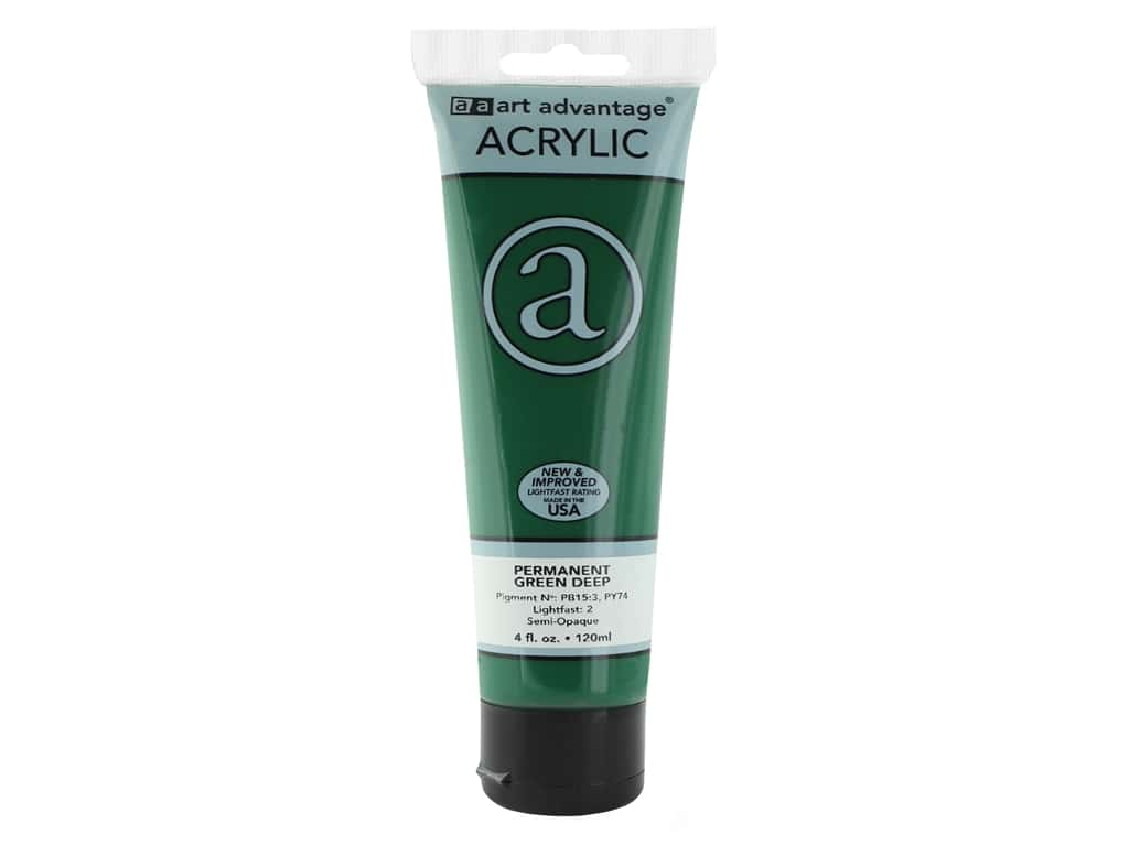 Art Advantage Acrylic Paint 4 oz. Permanent Green Deep